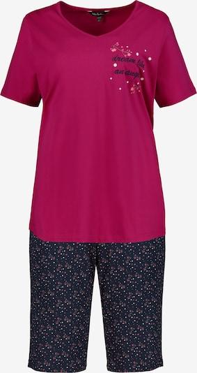 Ulla Popken Pyjama in de kleur Donkerblauw / Bordeaux, Productweergave