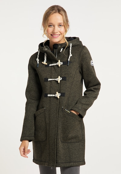 Schmuddelwedda Prechodný kabát - olivová / čierna, Model/-ka