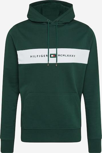 TOMMY HILFIGER Sweatshirt in de kleur Donkergroen / Wit, Productweergave