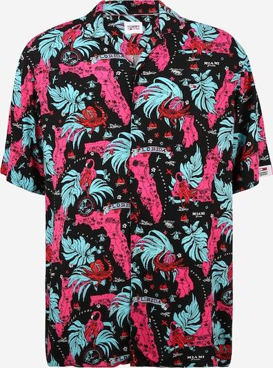 Tommy Jeans Plus Риза 'MIAMI' в светлосиньо / розово / червено / черно, Преглед на продукта