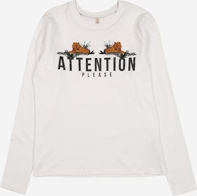 KIDS ONLY Shirt in dunkelorange / schwarz / naturweiß, Produktansicht