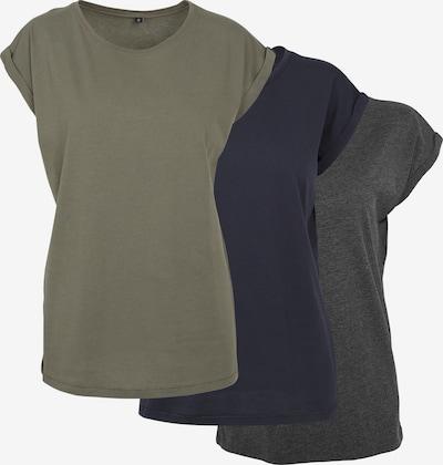 Build your Brand T-Shirt in marine / schlammfarben / schwarz, Produktansicht