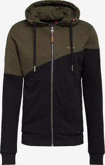Ragwear Tepláková bunda 'Wings' - zelená / čierna, Produkt