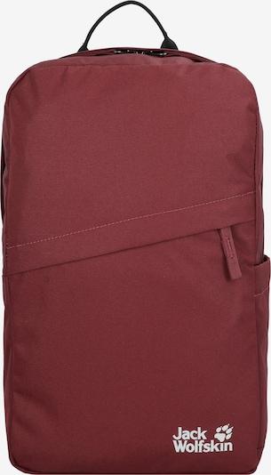 JACK WOLFSKIN Rucksack 'Cariboo' in burgunder / weiß, Produktansicht