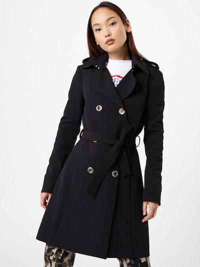 PATRIZIA PEPE Abrigo de entretiempo en negro, Vista del modelo