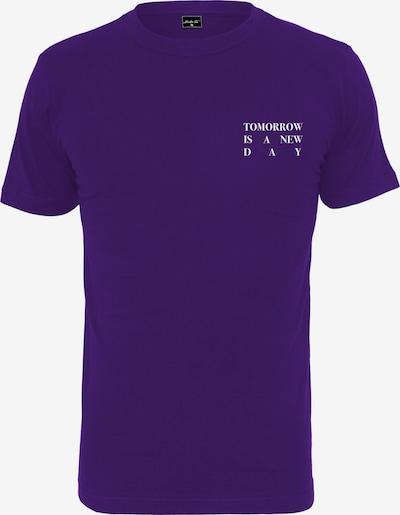 Merchcode Shirt ' Ladies New Day Tee ' in de kleur Lila / Wit: Vooraanzicht