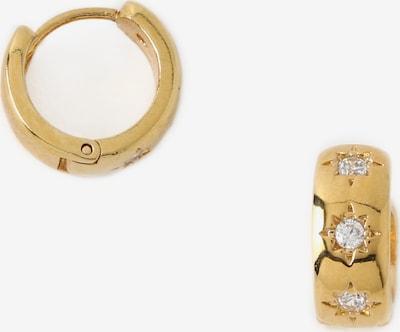 Orelia Ohrringe in gold / weiß, Produktansicht