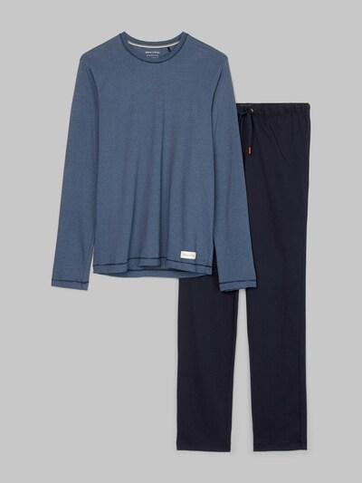 Marc O'Polo Pyjama lang ' 'Loungeset' ' in de kleur Blauw / Donkerblauw, Productweergave