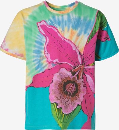 Desigual T-Shirt 'Estocolmo' in neonblau / gelb / grün / pink, Produktansicht