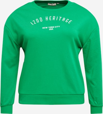 ONLY Carmakoma Sweatshirt 'CARTHILDE' in Green / White, Item view