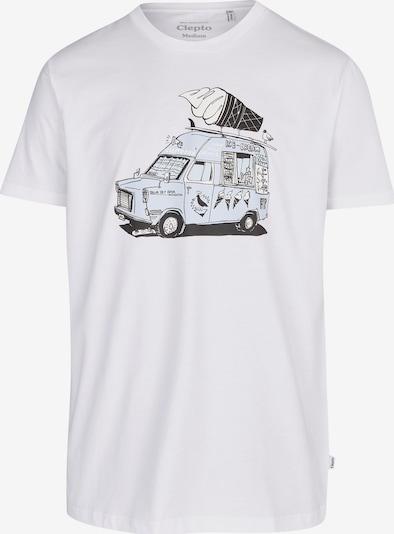 Cleptomanicx T-Shirt 'Ice Ice' in weiß, Produktansicht