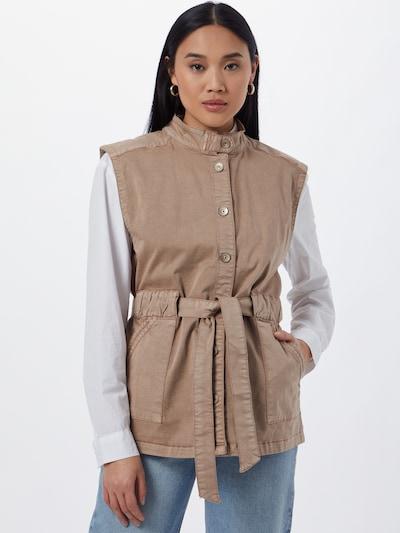 Cream Vest 'DAFINE' in Chamois, View model