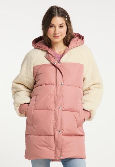 MYMO Wintermantel in pink / weiß, Modelansicht