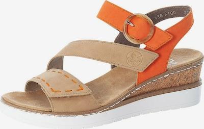RIEKER Strap sandal in Cappuccino / Orange, Item view