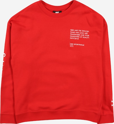 Nike Sportswear Sweatshirt in rot / weiß, Produktansicht