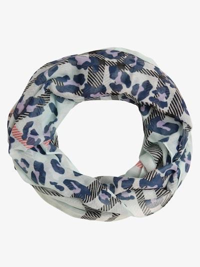 Franco Callegari Schal in blau / azur / mauve / schwarz, Produktansicht