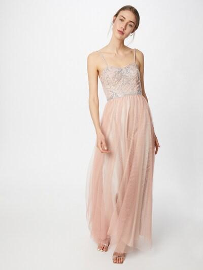 Rochie de seară Laona pe gri / roz, Vizualizare model