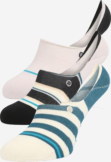 Stance Sportsokken in de kleur Lichtbeige / Duifblauw / Zwart / Wit, Productweergave