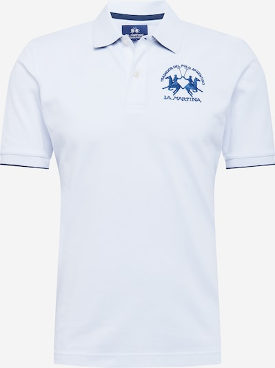 La Martina Poloshirt in blau / weiß, Produktansicht