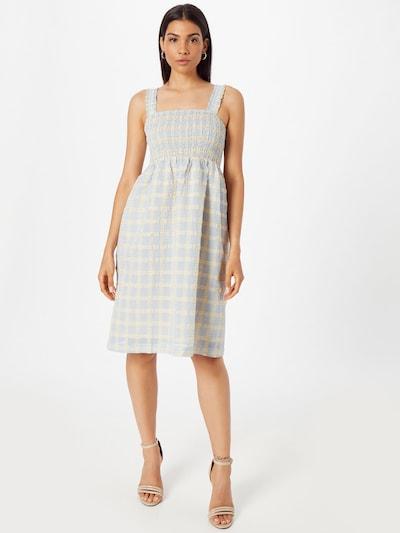 SISTERS POINT Kleid 'Love619' in beige / hellblau, Modelansicht