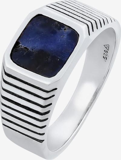 KUZZOI Ring Edelstein Ring, Siegelring in nachtblau / silber, Produktansicht