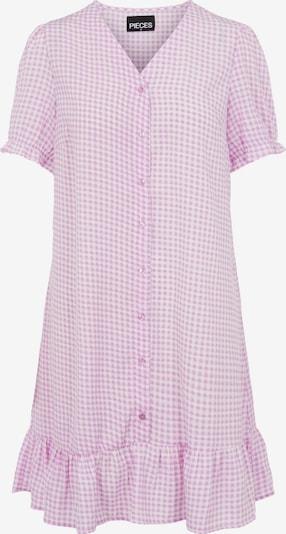 PIECES Skjortklänning 'Sienna' i lila / vit, Produktvy