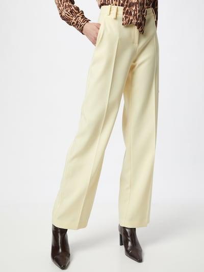 Pantaloni con piega frontale 'PANTALONI' PATRIZIA PEPE di colore giallo pastello, Visualizzazione modelli