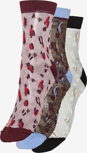 VERO MODA Socks 'Jenni' in Light blue / Brown / mottled grey / Pitaya / White, Item view