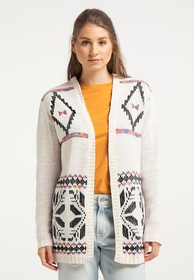 IZIA Cardigan in mischfarben / weiß, Modelansicht