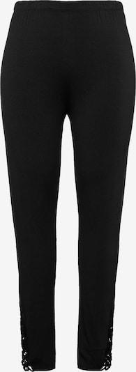 Ulla Popken Pantalon de pyjama en noir, Vue avec produit