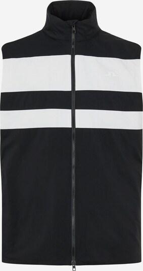 J.Lindeberg Weste in schwarz / weiß, Produktansicht