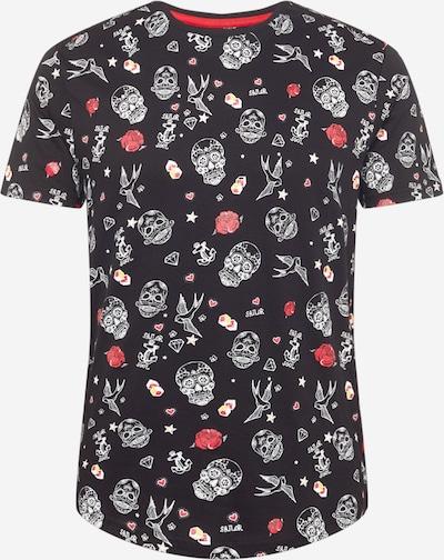 BRAVE SOUL Shirt 'CROSBY' in de kleur Gemengde kleuren / Zwart, Productweergave