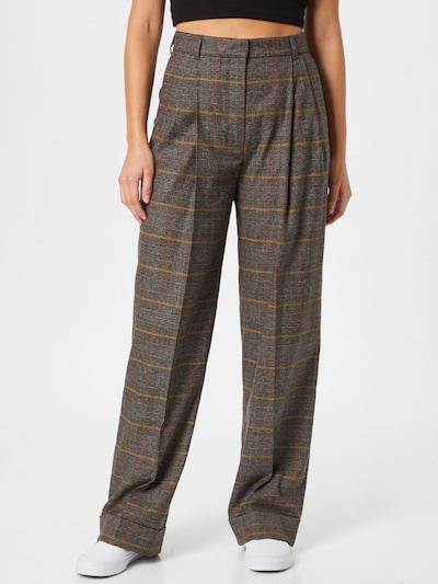 DAY BIRGER ET MIKKELSEN Pantalon à pince en gris / orange / rouge, Vue avec modèle