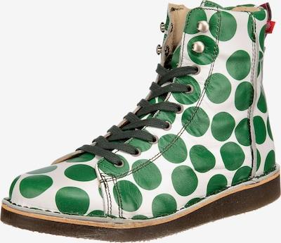 Grünbein Schnürstiefelette 'Louis' in grün / weiß, Produktansicht