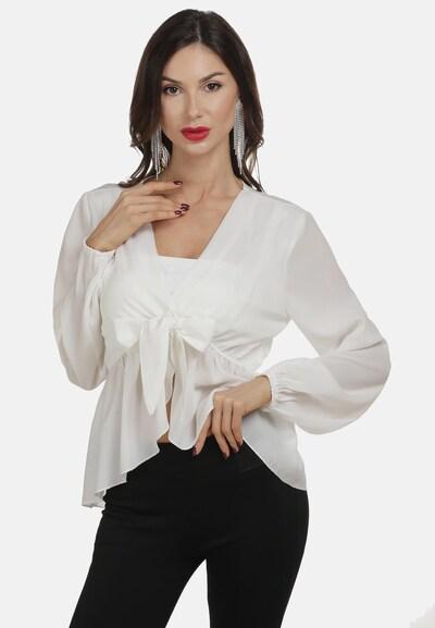 faina Blouse in de kleur Wit: Vooraanzicht