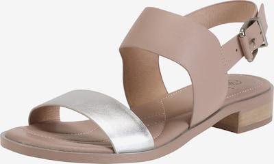 Ekonika Sandalen mit breiten Riemchen in beige / silber, Produktansicht