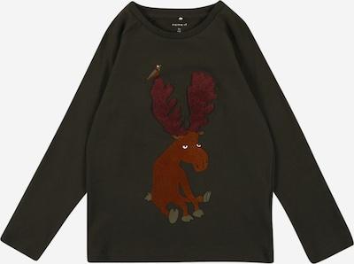 NAME IT Camiseta en caqui / rojizo / merlot, Vista del producto