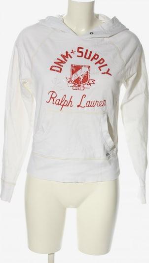 DENIM & SUPPLY Ralph Lauren Kapuzensweatshirt in S in rot / weiß, Produktansicht
