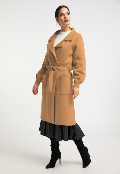 faina Knitted coat in Light brown, View model