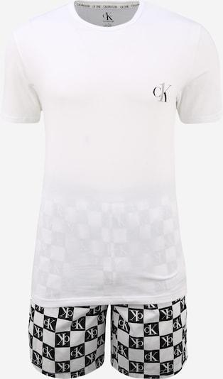 Calvin Klein Underwear Pyjama court en noir / blanc, Vue avec produit