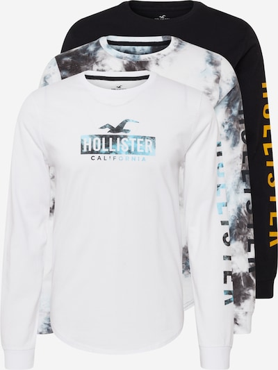 HOLLISTER Shirt in türkis / dunkelgrau / orange / schwarz / weiß, Produktansicht