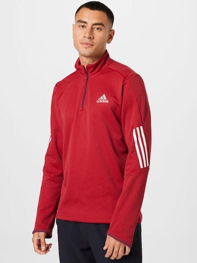 ADIDAS PERFORMANCE Sportshirt in grau / rot / weiß: Frontalansicht