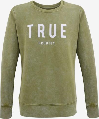 trueprodigy Sweatshirt 'Curt' in apfel / weiß, Produktansicht