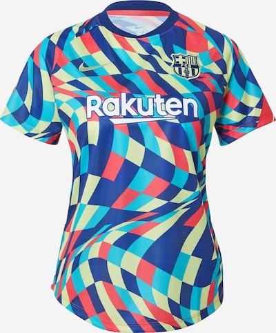 NIKE Maillot 'FC Barcelona' en bleu / aqua / moutarde / melon / blanc, Vue avec produit