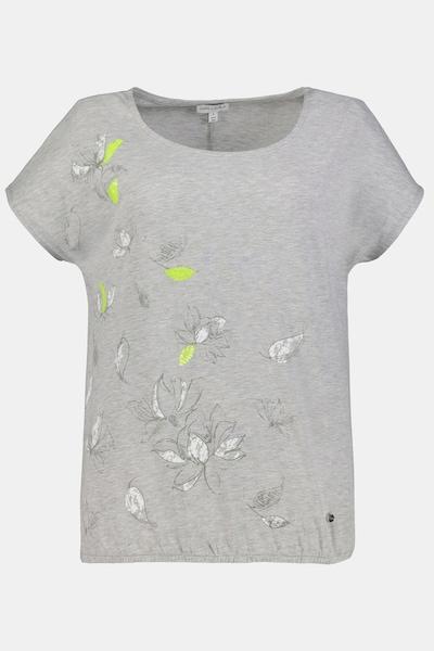 Gina Laura Gina Laura Damen T-Shirt, Magnolienblüten, Pailletten 750054 in gelb / grau / weiß, Produktansicht