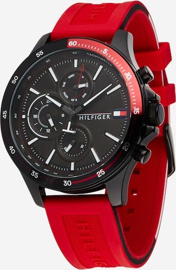TOMMY HILFIGER Uhr in rot / schwarz, Produktansicht