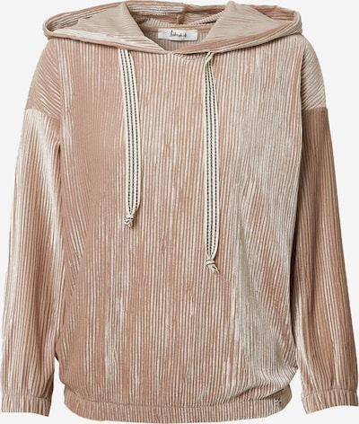 Liebesglück Sweatshirt in camel, Produktansicht