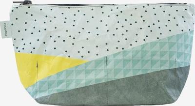 paprcuts Kulturtasche 'Kopenhagen' in türkis / gelb / grau / weiß, Produktansicht