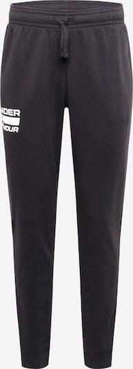 Pantaloni sportivi 'Rival' UNDER ARMOUR di colore grigio / nero / bianco, Visualizzazione prodotti