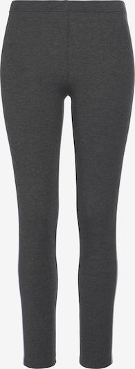 VIVANCE Leggings in dunkelgrau / graumeliert / weiß, Produktansicht